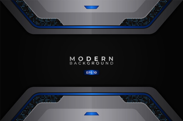 Modern background realistic 3d futuristic technology blue with silver metallic