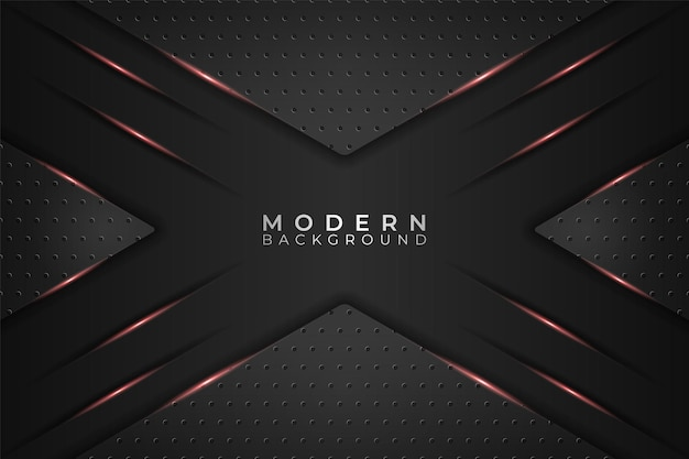 Modern background realistic triangle metallic technology glowing red and dark