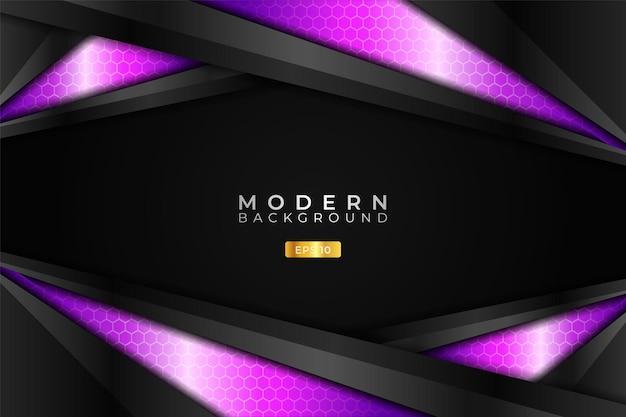 Modern background technology realistic glossy diagonal metallic purple and dark