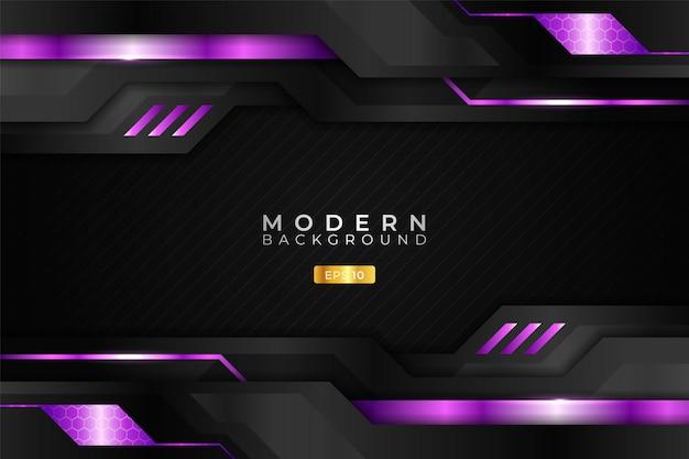 Modern background technology realistic glossy metallic purple and dark