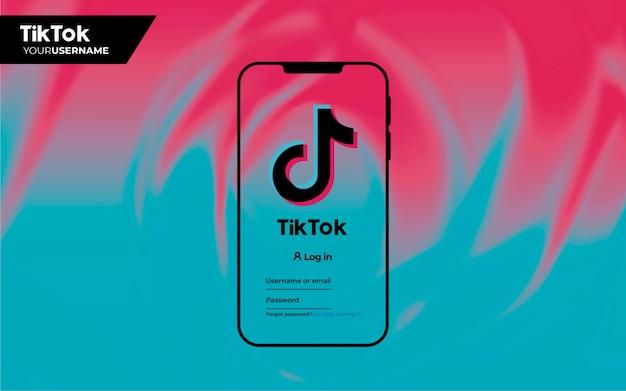 Modern background for tiktok