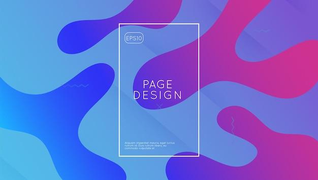 Современный фон. жидкое покрытие wave. минимальные формы. фиолетовый плакат