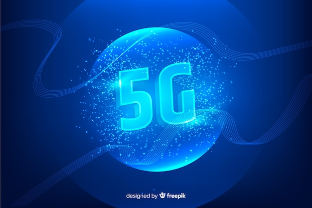Modern background with 5g concept