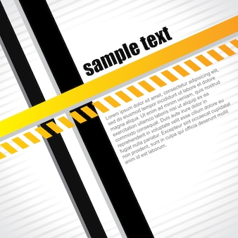Modern background with black and yellow lines