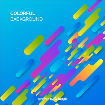 Modern background with colorful abstract shapes