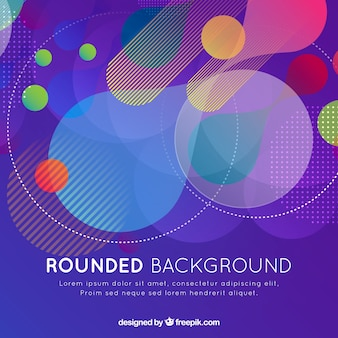 Modern background with colorful rounded shapes