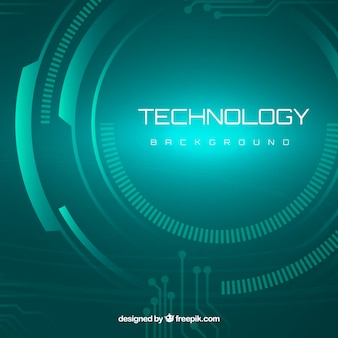 Modern background with cyber technology