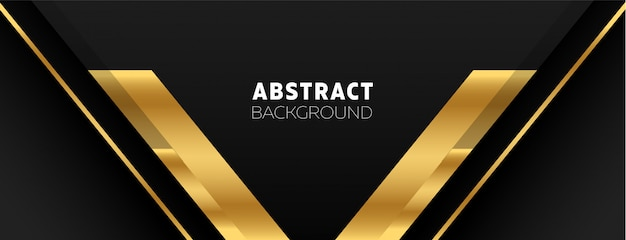Modern background with dark and gold colors