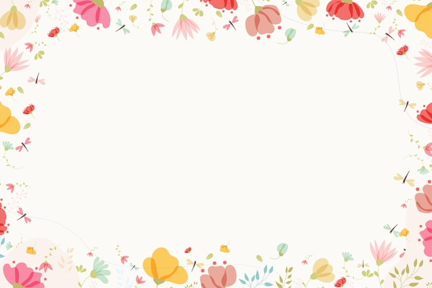 Modern background with flowers and leaves