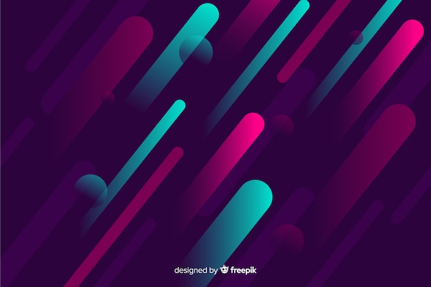 Modern background with gradient dynamic shapes