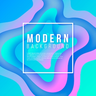 Modern background with gradient shapes