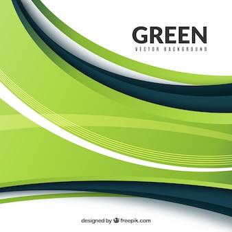 Sfondo moderno con onde verdi