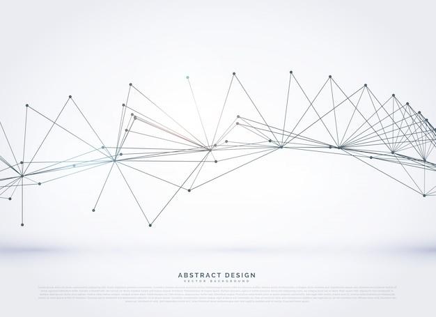 抽象的なワイヤーメッシュのデジタルネットワーク回線の背景
