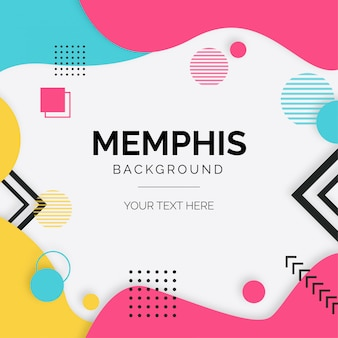 Modern background with memphis elements