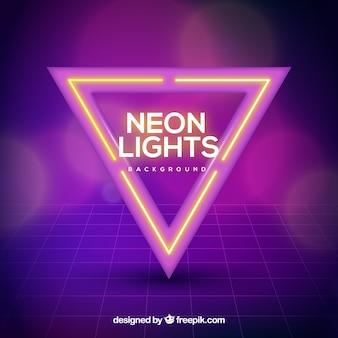 ネオン三角形と現代の背景