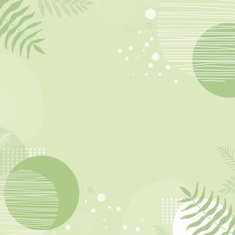 모양과 잎 현대 배경입니다. 파스텔 색상과 손으로 그리는 선으로 추상 미술 그림