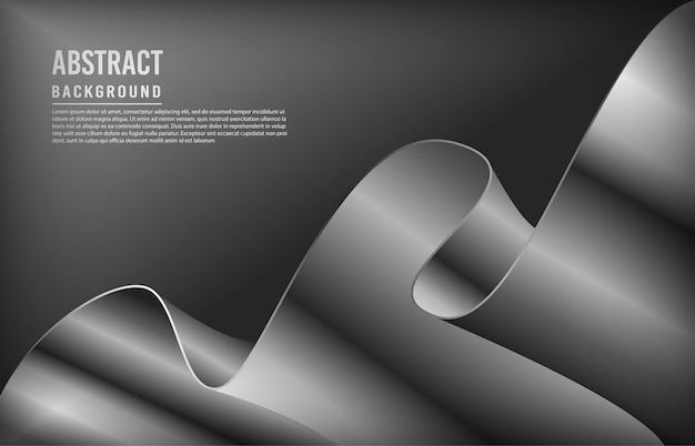 Modern background with silver dynamic shape