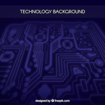 Modern background with technological circuit