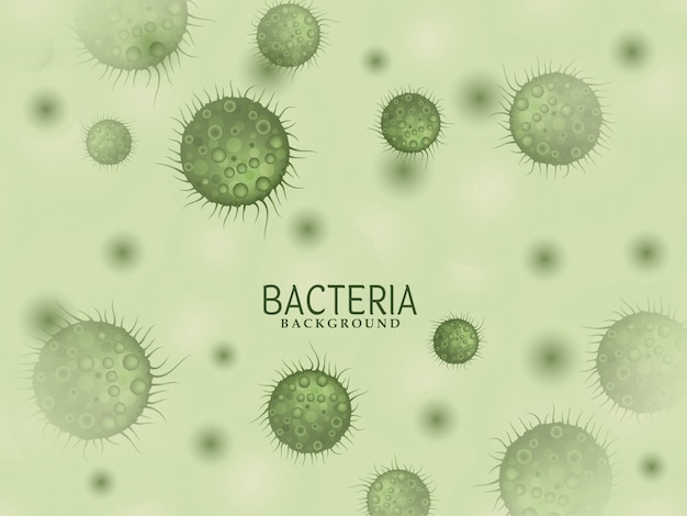 Modern bacteria germs background