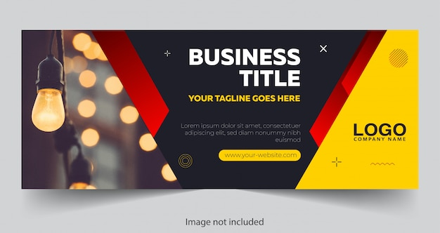 Modern banner design with geometric shapes