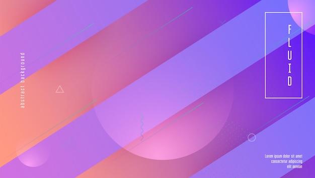 현대 배너입니다. 보라색 그래픽 포스터입니다. 플로우 랜딩 페이지. 비즈니스 프레젠테이션. 디지털 모양. 플라스틱 종이. 컬러 플루이드 디자인. 미래 지향적인 레이아웃. 마젠타색 현대 배너