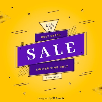 Modern banner sale in flat design
