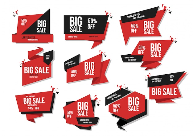 Modern banner sale set