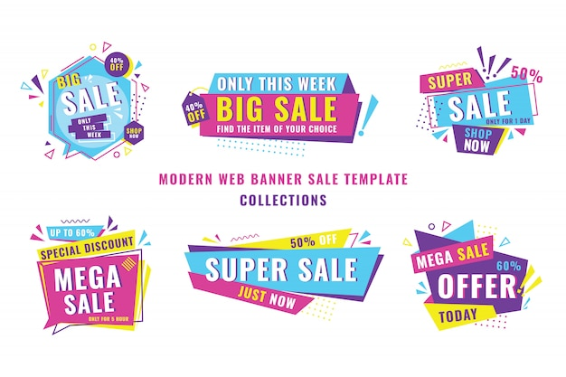 Modern banner sale template collection