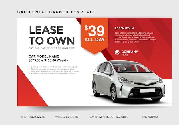 Modern banner template for car rental