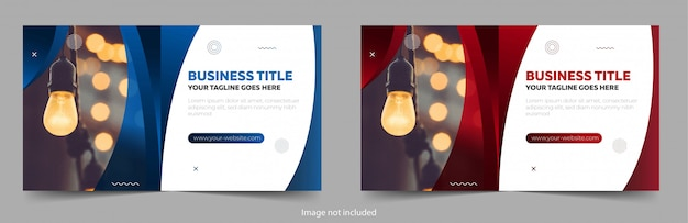 Modern banner template design with elements