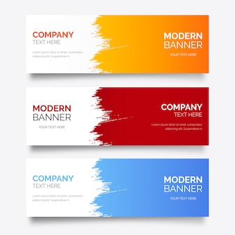 Modern banner template with abstract splash
