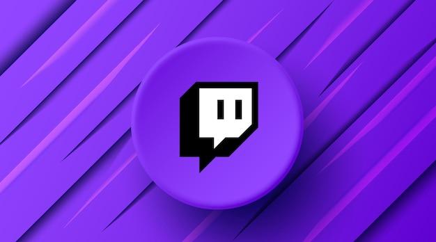 Banner moderno con logo twitch