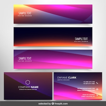 Modern banners and business card