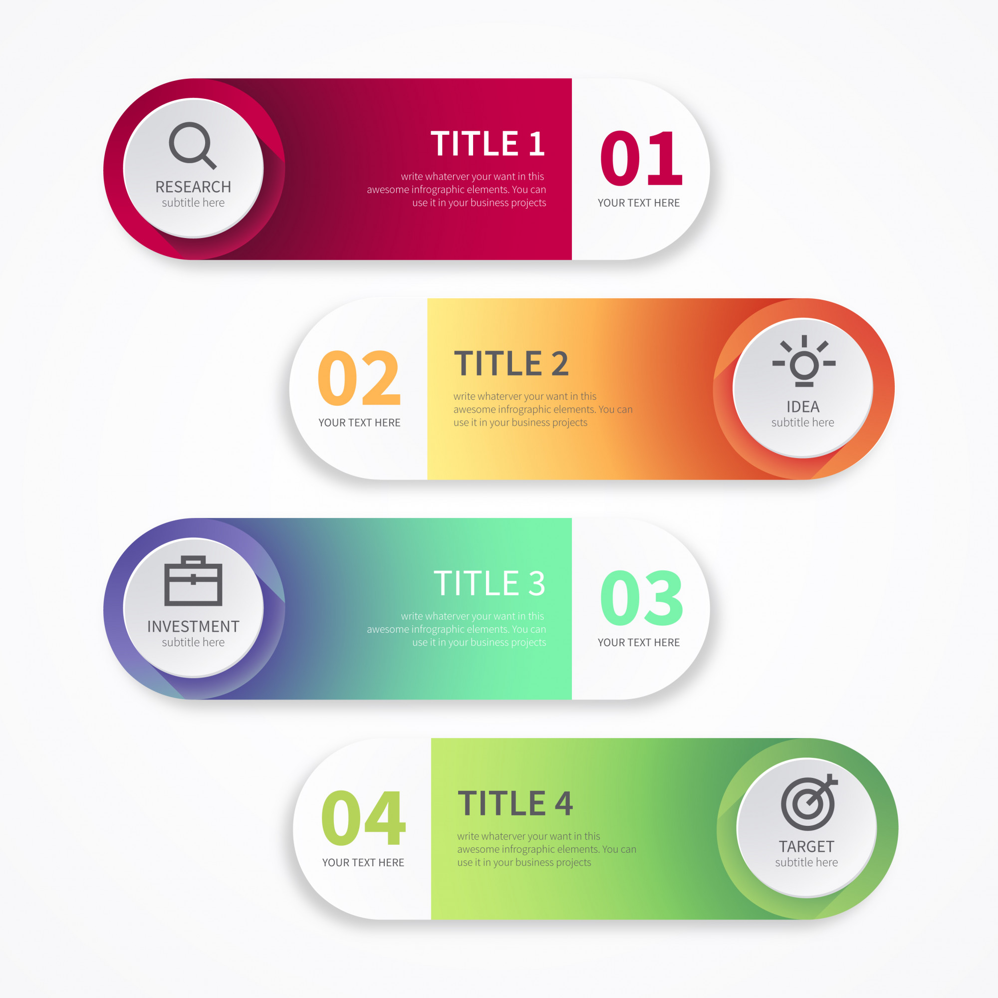 Modern Banners for Infographics