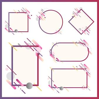 様々な形の現代のバナーがイラストを設定