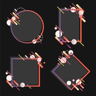 様々な形でモダンなバナー設定図