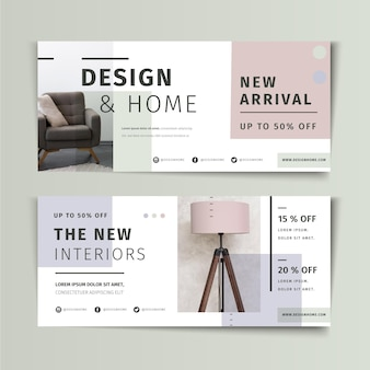 Modern banners template Free Vector