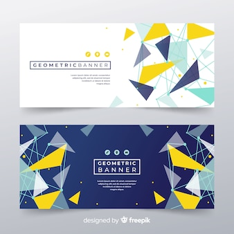 Modern banners with abstracts shapes