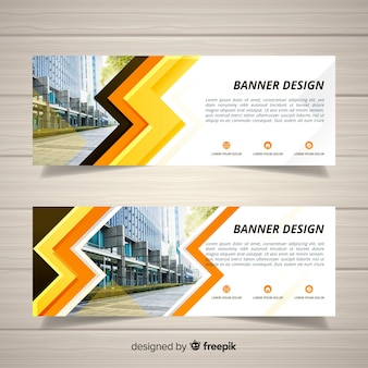 Modern banners with photo