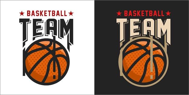 Modern basketball logo