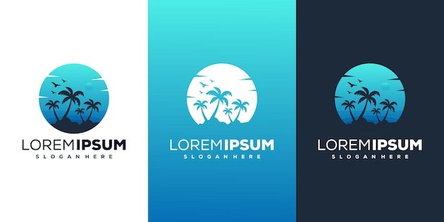 Modern beach logo design