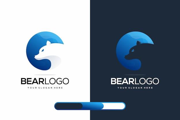 モダンなクマのロゴデザイン