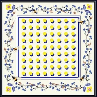 Modern beautiful shawl, scarf print.bright polka dots vector