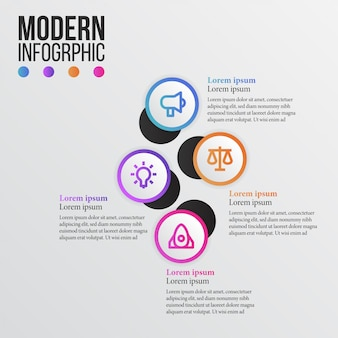Modern beauty info graphic with business icon