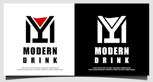 Современный пивной напиток логотип дизайн вектор