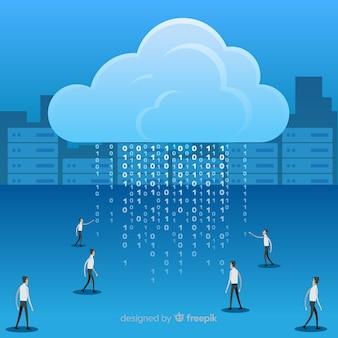 Modern big data background design