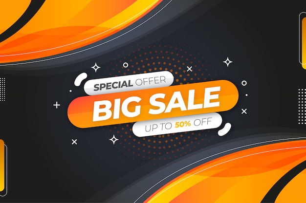 Modern big sale banner background