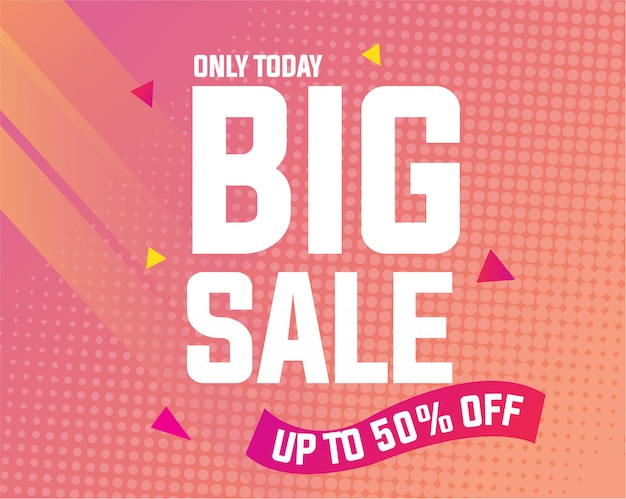 Modern big sale banner template