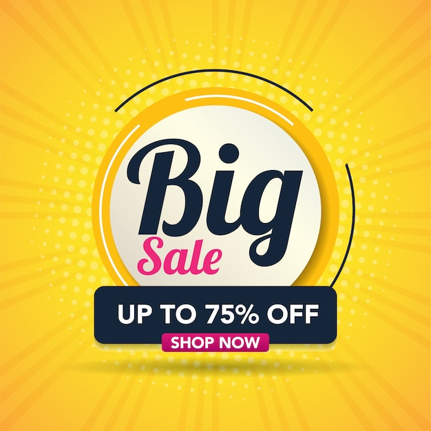 Modern big sale banner vector illustration
