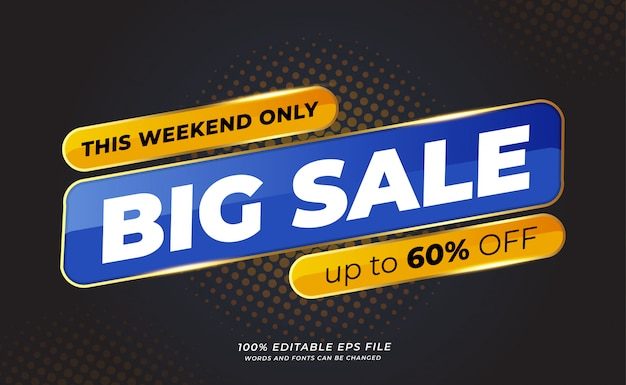 Modern big sale banner with halftone background